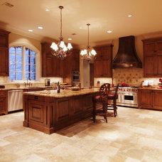 Mediterranean Kitchen by Allan Edwards Builder Inc
