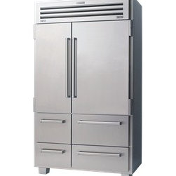 Sub-Zero PRO 48 Refrigerator/Freezer - Features a stainless door, sculpted metal, dual refrigeration with three evaporators and advanced controls that marry performance and design.