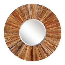Cooper Classics - Cooper Classics Berkley Mirror, Light Natural Rustic Wood - -Light natural rustic wood finish