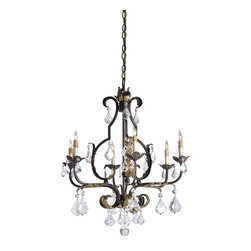 Currey and Company - Currey and Company 9828 Tuscan Traditional Chandelier - Large - Lovely iron work and a rich Venetian finish accented with hand applied Gold Leaf are the perfect combination. Swarovski Crystals add their fire and brilliance to the elegant appearance of this striking chandelier..