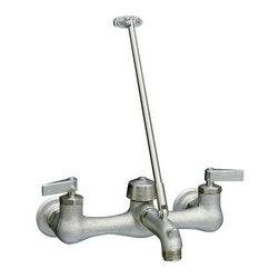 KOHLER - KOHLER K-8907-RP Kinlock Service Sink Faucet with Lever Handles in Rough Plate - KOHLER K-8907-RP Kinlock Service Sink Faucet with Lever Handles in Rough Plate