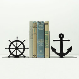 Old Man by the Sea Bookends - Line up your favorite literary titles on a classic bookshelf and round out the look with a snappy set of nautical metal bookends.