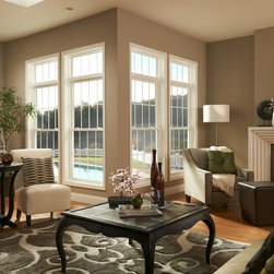 Windows - BF Rich double hung windows with picture windows