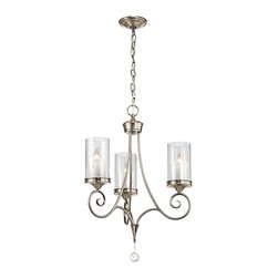 Kichler - Kichler 42860CLP Lara Classic Pewter 3 Light Chandelier - Finish: Classic Pewter