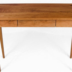 Cherry Hall Table - This is a solid Cherry Hall/Side table with a floating drawer and tapered legs.