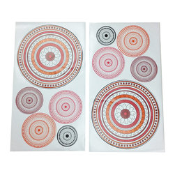 "Sophia Lolita - Wall Decals - Set of 2 - Add a little or a lot of detail to the room with ""Sophia Lolita"" wall decals which  come to match many of the circular patterns shown in this collection.  Easy to add and later remove to any room makes a GREAT way to add life to a room!"