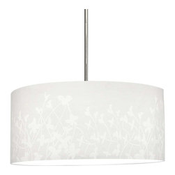 Progress Lighting - Progress Lighting P8768-01 Chloe Pendant Light In White Floral Pattern -