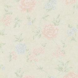 Wallpaper Worldwide - Dream Manor - Floral Wallpaper, Pastels, Beige, Pink,blue - Material: Non-woven.