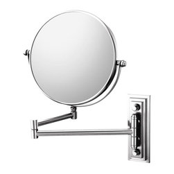 Aptations - Mirror Image 20845 Classic Wall Mirror Chrome - Mirror Image 20845 Classic Double Arm Wall Mirror 5X / 1X Chrome