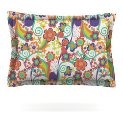 """Kess InHouse - Louise Machado """"Printemps"""" Pillow Sham (Cotton, 40"""" x 20"""") - Pairing your already chic duvet cover with playful pillow shams is the perfect way to tie your bedroom together. There are endless possibilities to feed your artistic palette with these imaginative pillow shams. It will looks so elegant you won't want ruin the masterpiece you have created when you go to bed. Not only are these pillow shams nice to look at they are also made from a high quality cotton blend. They are so soft that they will elevate your sleep up to level that is beyond Cloud 9. We always print our goods with the highest quality printing process in order to maintain the integrity of the art that you are adeptly displaying. This means that you won't have to worry about your art fading or your sham loosing it's freshness."""