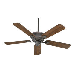 "Quorum Lighting - Quorum Lighting Liberty 52"" Transitional Ceiling Fan X-44-52594 - Hammered detailing adds just enough texture and interest to an otherwise classic look on this Quorum Lighting ceiling fan. From the Liberty Collection, this transitional ceiling fan features beveled styling and five blades with simple rounded corner detailing. Your choice of two finishes to complete the look."