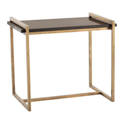 Kathy Kuo Home - Hollis Modern Black Marble Iron Rectangular Side Table - Kitchen?  Bathroom?  Bedroom?  Living room?  There are so many places where a gorgeous marble topped modern metal table could fit, we don't know where we'd put this beauty, but we know we absolutely love how flexible and stylish it is.  Classics like this don't show up every day, and we're so happy this one did!