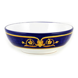Artistica - Hand Made in Italy - Principato: Pasta Bowl (915B/30-1935) - Masterfully hand painted our Principato design features a refined design Exclusively available in the USA only throughout Artistica!