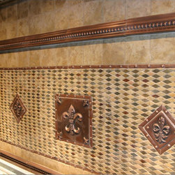 Handcrafted mosaic mural for kitchen backsplash - Handcrafted mural Kitchen backsplash