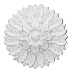 "Ekena Millwork - Chesterfield Rosette, 6""OD x 1⅛""P - Our rosettes are the perfect accent pieces to cabinetry, furniture, fireplace mantels, ceilings, and more.  Each pattern is carefully crafted after traditional and historical designs.  Each piece comes factory primed and ready for your paint.  They can install simply with traditional adhesives and finishing nails."