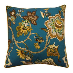 "Jiti Pillows - Jazmine 20"" x 20"" Pillow in Jade - Introduce a sophisticated air to any rooms décor with this stunning throw pillow from Jiti. Nestled on the couch or lounging on the bed, this beautiful, pillow makes quite a statement with its eye catching floral design that seamlessly complements nearly any style. -Color: Jade-Pattern: Floral -Material: 100% Linen -Features: -Hidden zipper closure-Piping edge-Made in USA-Dimensions: 20"" H x 20"" W -Cleaning and Care: Dry clean only"