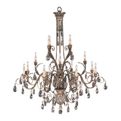 Fine Art Lamps - A Midsummer Nights Dream Chandelier, 136740-2ST - From crown to finial, this three-tier chandelier is the ultimate adornment for your favorite formal setting. An incredible concoction of curves, candles and moon-dusted crystals, it redefines fabulous.