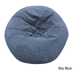 Gold Medal - Gold Medal Adult Sueded Corduroy Bean Bag Chair - This bean bag features a suede-finished,corduroy constructed with double stitching and a child-safe zipper closure. Filled with super-light expanded polystyrene beads,this cozy bean bag chair will make movie watching relaxing,stylish and comfortable.