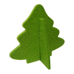 The Felt Store - Decorative Felt Christmas Tree With Stand - Apple Green - The Felt Store's Decorative Tree is the perfect home decoration item for the holiday season. It is made from our high-quality 0.19 inches(5mm) designer felt and measures 4.5 inches x 4 inches(114.3mm x 101.6mm). The Decorative Tree goes perfectly with our other Home Decor products and will add christmas atmosphere to your home. Several colors are available.
