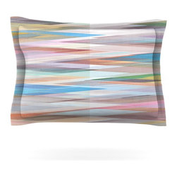 "Kess InHouse - Mareike Boehmer ""Nordic Combination II"" Rainbow Abstract Pillow Sham (Cotton, 30 - Pairing your already chic duvet cover with playful pillow shams is the perfect way to tie your bedroom together. There are endless possibilities to feed your artistic palette with these imaginative pillow shams. It will looks so elegant you won't want ruin the masterpiece you have created when you go to bed. Not only are these pillow shams nice to look at they are also made from a high quality cotton blend. They are so soft that they will elevate your sleep up to level that is beyond Cloud 9. We always print our goods with the highest quality printing process in order to maintain the integrity of the art that you are adeptly displaying. This means that you won't have to worry about your art fading or your sham loosing it's freshness."