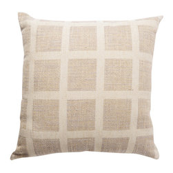 Waggo - Linen Check Throw Pillow, Cream Check - Check these out! Our modern linen check throw pillows are perfect for any living space.