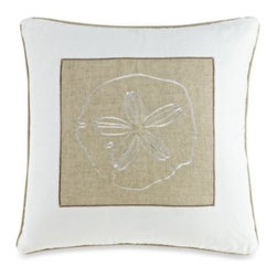 Ivy Hill Home - Solid Seashell White Square Toss Pillow - Finish off your serene costal retreat with this Solid Seashell square toss pillow, featuring a nautical motif that will give your bed a lovely beachside charm.