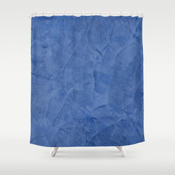 Tuscan Blue Plaster Shower Curtain Home Accessories - Corbin Henry