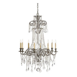 Marigot Six Light Chandelier With Wood Beads Chandeliers Find Modern And Crystal Chandelier