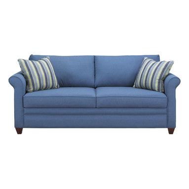 Savvy - Denver Queen Sleeper Sofa, Ranger Twill Blue, Queen Sleeper, Dreamsleeper Mattre - Denver Queen Sleeper Sofa in Ranger Twill Blue