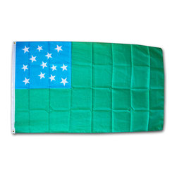 Flagline - Green Mountain Boys - 3'X5' Polyester Flag - Made of a high quality polyester material, our Dura-Poly Green Mountain Boys flag measures 3' x 5' and includes vivid colors and an accurate design. The flag is screen-printed on a durable 150 denier shiny polyester material and is finished with a double stitched hem. The flag features a white fabric header with two brass grommets on the 3' side for easy display. The flag is best used indoors but can withstand occasional outdoor use. The authentic design is based on information from official sources. The flag of the Green Mountain Boys began as a regimental flag used by the Green Mountain Boys. The Green Mountain Boys were a militia organization first established in the 1760s in the territory between the British provinces of New York and New Hampshire, known as the New Hampshire Grants. Today the flag is used as the regimental flag of Vermont's national guard unit.