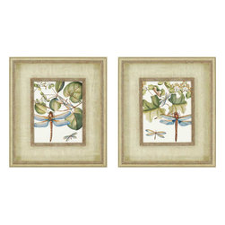 Paragon - Dragonfly Medley PK/2 - Framed Art - Each product is custom made upon order so there might be small variations from the picture displayed. No two pieces are exactly alike.