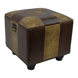 International Caravan - International Caravan Carmel Ottoman Trunk with Lid in Mix Pattern - International Caravan - Ottomans - YWLF2188MX - For over 44 years International Caravan has been one of the leaders in quality outdoor and indoor furniture. Using only the finest materials they bring skill craftsmanship and complete dedication to those who enjoy their furniture. You cannot go wrong with any of International Caravan's beautifully constructed pieces of furniture that are sure to be a focal point inside or outside of your home for years to come.