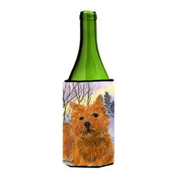 Caroline's Treasures - Norwich Terrier Wine Bottle Koozie Hugger - Norwich Terrier Wine Bottle Koozie Hugger Fits 750 ml. wine or other beverage bottles. Fits 24 oz. cans or pint bottles. Great collapsible koozie for large cans of beer, Energy Drinks or large Iced Tea beverages. Great to keep track of your beverage and add a bit of flair to a gathering. Wash the hugger in your washing machine. Design will not come off.