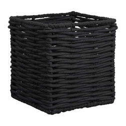 Hampton Black Basket - This lovely seagrass basket is good for concealing clutter or serving as a wastepaper basket. It will add a layer of natural texture to any room in your home.