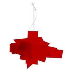 IMPORT LIGHTING & FURNITURE - Big Bang Chandelier, Red, Small - Dimensions: