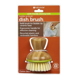 Full Circle Home Replacement Brush - Bubble Up Green - 6 Ct - Bamboo & recycled plastic green brush.