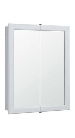 DHI-Corp - Concord White Gloss Bi-View Medicine Cabinet Mirror with 2-Doors and 2-Shelves - The Design House 531426 Concord White Gloss Bi-View Medicine Cabinet Mirror features a durable white gloss finish, dual shelf design and concealed hinges. With a dual door design, this medicine cabinet measures 30-inches tall by 24-inches wide by 5-1/4-inches deep for ample storage space and a large mirror. This traditional design gets a modern upgrade with its bright finish and clean lines, sure to quickly revamp your bathroom. The cabinet doors glide open revealing shelves to store shampoo, medicine and makeup. This mirror will resist chipping or staining in steamy bathrooms. Use this mirror for shaving or applying makeup in the morning. The Design House 531426 Concord White Gloss Bi-View Medicine Cabinet Mirror has a 1-year limited warranty that protects against defects in materials and workmanship. Design House offers products in multiple home decor categories including lighting, ceiling fans, hardware and plumbing products. With years of hands-on experience, Design House understands every aspect of the home decor industry, and devotes itself to providing quality products across the home decor spectrum. Providing value to their customers, Design House uses industry leading merchandising solutions and innovative programs. Design House is committed to providing high quality products for your home improvement projects.