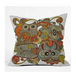 "DENY Designs - Valentina Ramos 4 Owls Throw Pillow - Wanna transform a serious room into a fun, inviting space? Looking to complete a room full of solids with a unique print? Need to add a pop of color to your dull, lackluster space? Accomplish all of the above with one simple, yet powerful home accessory we like to call the DENY Throw Pillow! Features: -Valentina Ramos collection. -Color: Print. -Material: Woven polyester. -Sealed closure. -Spot treatment with mild detergent. -Made in the USA. -Closure: Concealed zipper with bun insert. -Small dimensions: 16"" H x 16"" W x 4"" D. -Medium dimensions: 18"" H x 18"" W x 5"" D. -Large dimensions: 20"" H x 20"" W x 6"" D. -Product weight: 3 lbs."