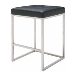 Chi Counter Stool, Set of 2, Black