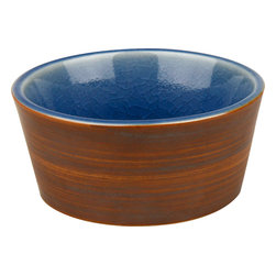 Waechtersbach - Pure Nature Blue Set of 4 Dipping Bowls - A set of small dipping bowls always comes in handy — especially when entertaining. The earthy and natural appeal of this set of four makes it perfect for mixing and matching with most any decor, and you'll love the beautiful cracked glaze that gives this set its signature look.
