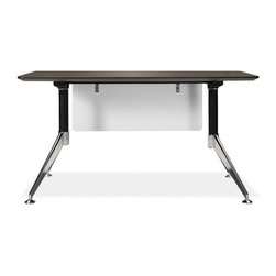 """Jesper Office - 300 Computer Desk with Modesty Panel - Features: -Computer desk with modesty panel. -300 Collection. -Steel base. -Modern design. -Height adjustable feet. -Non scratch surface. -Wire management. -Durable work top. -Commercial grade. -Manufacturer provides 5 years warranty. -Overall dimensions: 29"""" H x 55"""" W x 27"""" D."""