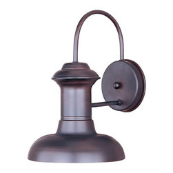 Maxim Lighting - Maxim Lighting Wharf Transitional Outdoor Wall Sconce X-BO10053 - Decorating with style is simple with this Maxim Lighting Wharf Transitional Outdoor Wall Sconce. You will certainly notice the interesting design of the aluminum frame in a rich, oriental bronze finish. It's a stunningly attractive, 9.5-inch-tall fixture which will gain praise and admiration from anyone who sees it.