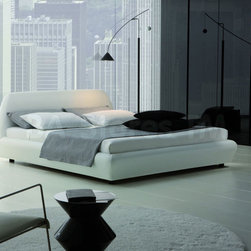 Downtown Platform Bed in White -