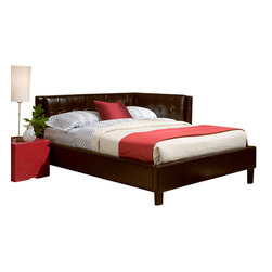 Standard Furniture - Standard Furniture Rochester Corner beds Daybed in Brown PVC Fabric - Twin - Rochester corner daybeds have a clean tailored look with their squared off silhouette and low profile head and footboards.