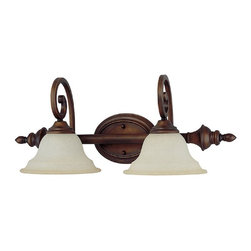 Capital Lighting - Capital Lighting Chandler Transitional Wall Sconce X-292-BB2081 - This Capital Lighting wall sconce features two lights and a plethora of classic details from the two scrolling arms and finials to the two beautiful bell shaped shades. From the Chandler Collection, this Burnished Bronze wall sconce has been paired with a lightly golden toned mist scavo glass that pulls the look together.