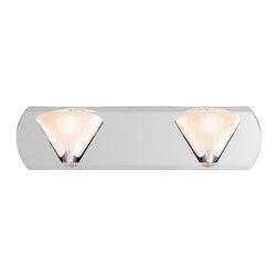 "access - Chrome And Mirror 2 Light Bath Wall Fixture - Width: 18"""