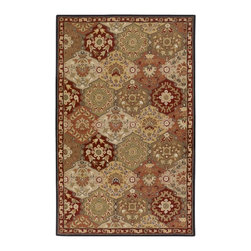 """Surya - Traditional Caesar Sample 1'6""""x1'6"""" Sample Red-Olive  Area Rug - The Caesar area rug Collection offers an affordable assortment of Traditional stylings. Caesar features a blend of natural Red-Olive  color. Hand Tufted of 100% Wool the Caesar Collection is an intriguing compliment to any decor."""