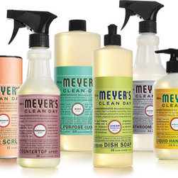 Cleaning Products, Variety Gift Set - Mrs. Meyers has some of the freshest smelling cleaning products around, not to mention the cutest packaging. Each item is one you'd enjoy leaving out on your counter. This set comes boxed and wrapped up.