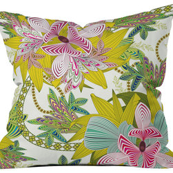 DENY Designs - Sabine Reinhart Life Is Music Outdoor Throw Pillow - Do you hear that noise? it's your outdoor area begging for a facelift and what better way to turn up the chic than with our outdoor throw pillow collection? Made from water and mildew proof woven polyester, our indoor/outdoor throw pillow is the perfect way to add some vibrance and character to your boring outdoor furniture while giving the rain a run for its money. Custom printed in the USA for every order.