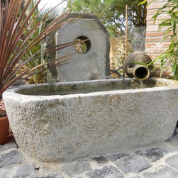 Bathtubs Carved in Stone and Marble (Mediterranean Style) - Image provided by 'Ancient Surfaces'